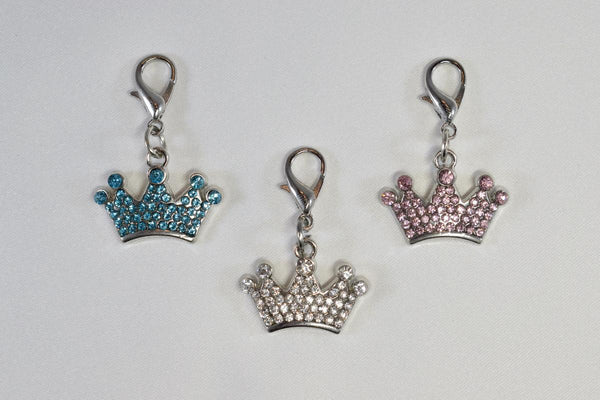 Rhinestone Crown Collar Charm