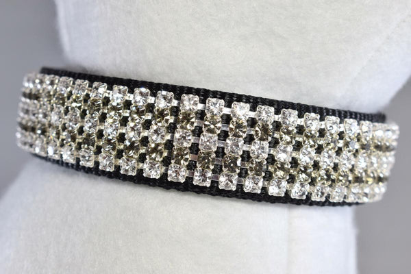 "Formal Affair Rhinestone Collar - 1"" Wide"