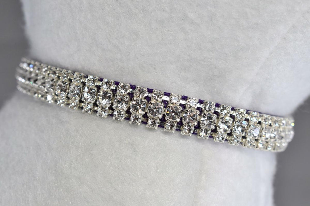 "Purple Petite Elegance Rhinestone Cat Safety Collar - 3/8"" Wide"