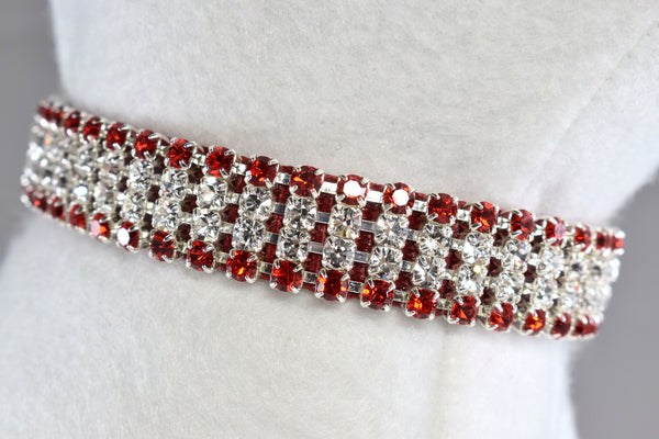 "Radiance Red II Rhinestone Collar - 5/8"" Wide"