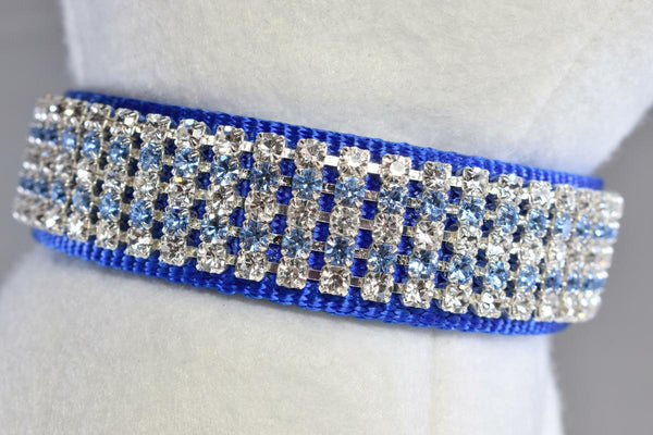 "Royale Blue Rhinestone Collar - 1"" Wide"