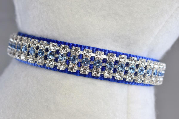 "Royale Blue Rhinestone Collar - 5/8"" Wide"