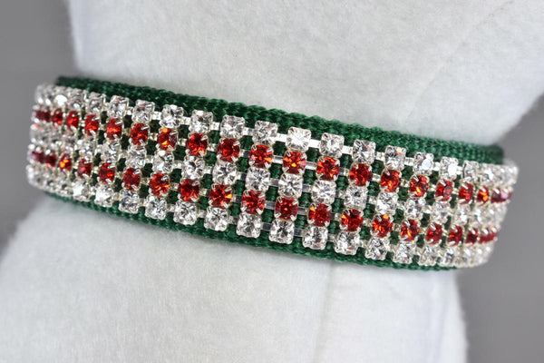 "NEW! Noelle Rhinestone Collar - 1"" Wide"