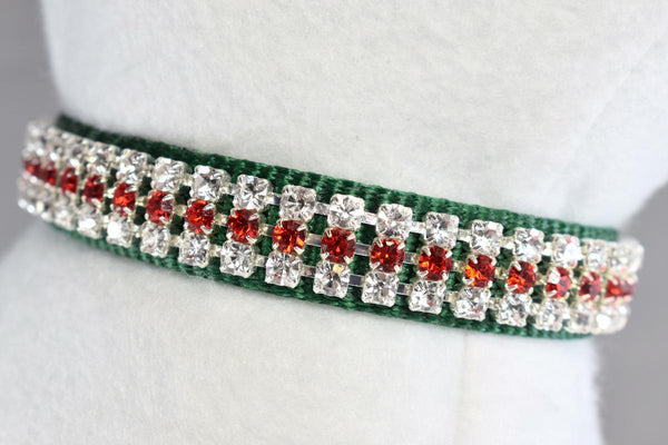 "NEW! Noelle Rhinestone Collar - 5/8"" Wide"