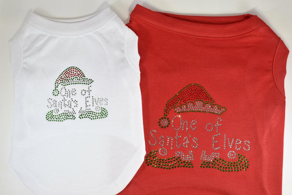 NEW! One of Santa's Elves Rhinestone Pet Shirt