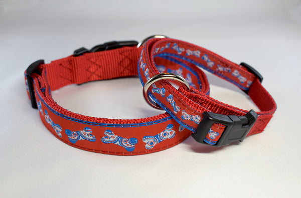 NEW! Patriotic Bones Adjustable Ribbon Collar
