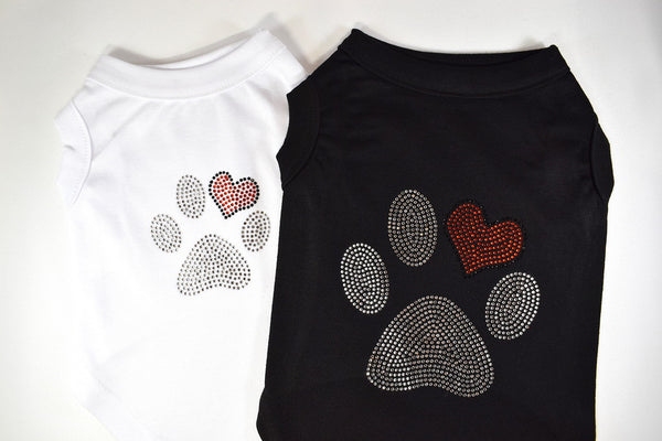 Paw Rhinestone Pet Shirt