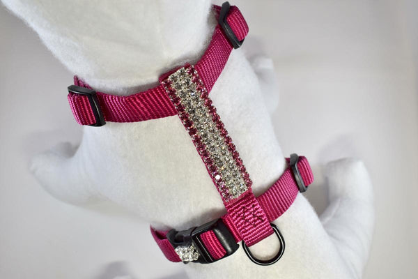 Pretty in Pink Rhinestone Fully Adjustable Comfort Harness