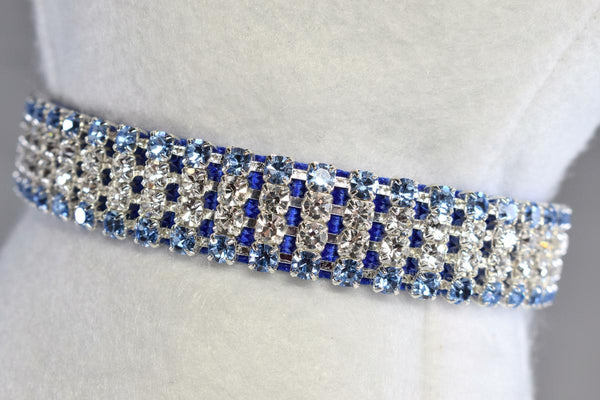 "Royale Blue II Rhinestone Collar - 5/8"" Wide"