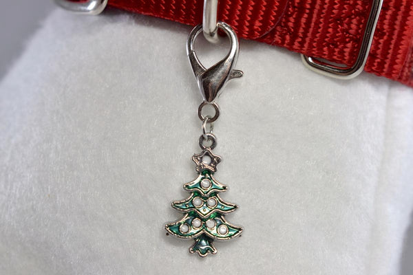 NEW! Christmas Tree w/Rhinestone Accent Collar Charm