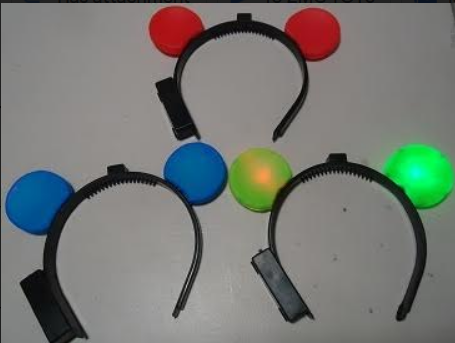 MOUSE EARS LIGHT UP (12PCS)