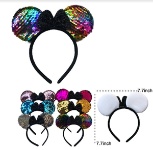 MOUSE EARS HEADBAND SEQUENCE (12PC)