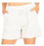 P3424 SHORT STRIPE TIE (3PC) WHITE