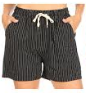 P3424 SHORT STRIPE TIE (3PC) BLACK