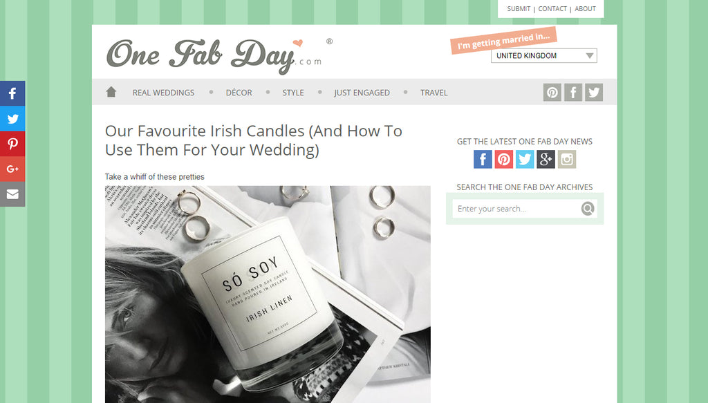 One Fab Day - Só Soy Candles