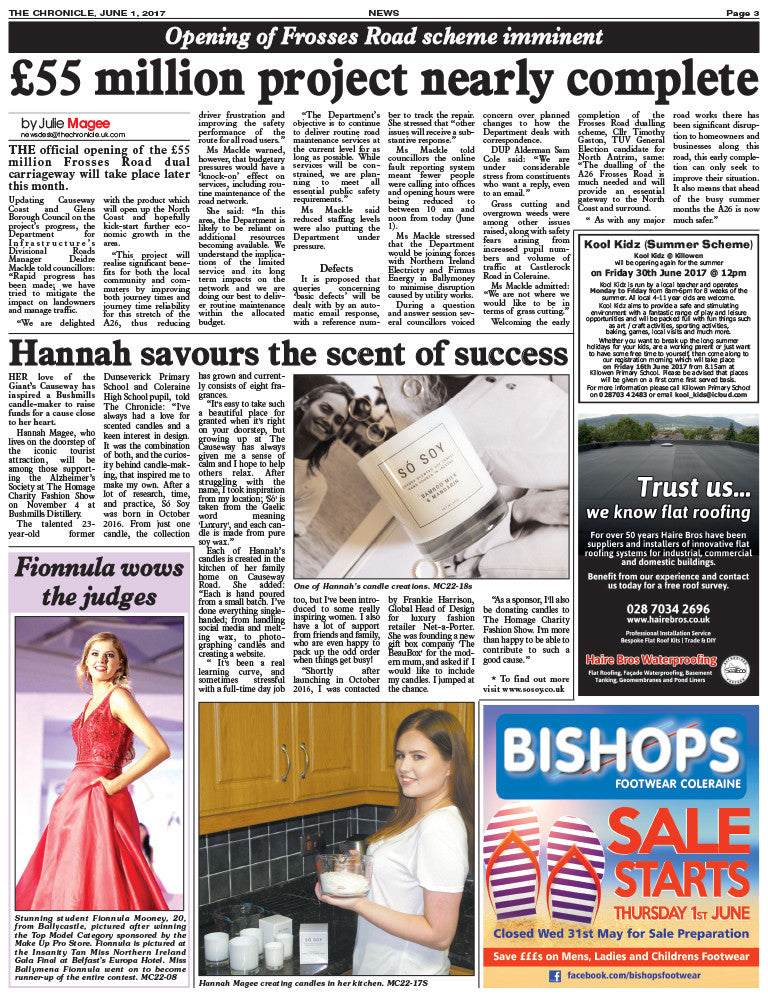 The Ballymoney Chronicle - Só Soy Candles