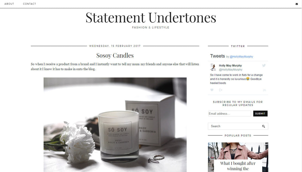 Statement Undertones - Só Soy Candles