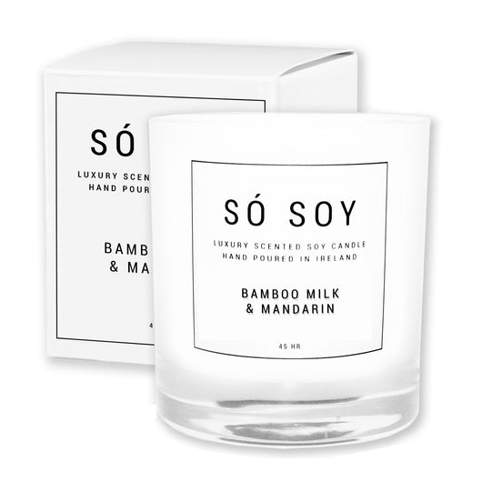 Large Bamboo Milk & Mandarin - Só Soy Candles