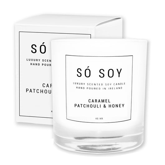 Large Caramel, Patchouli & Honey - Só Soy Candles
