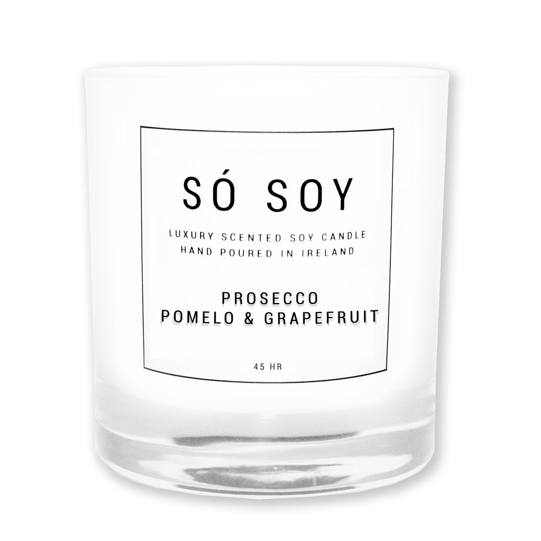 Large Prosecco, Pomelo & Grapefruit - Só Soy Candles