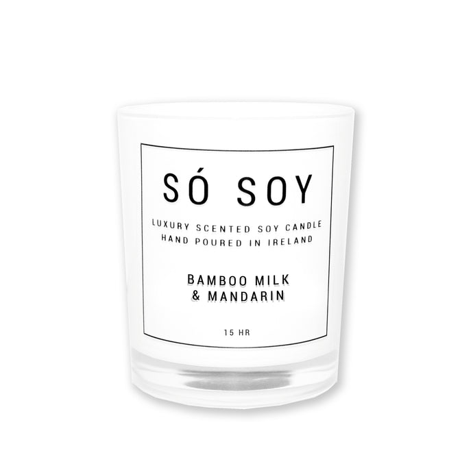 Small Bamboo Milk & Mandarin - Só Soy Candles