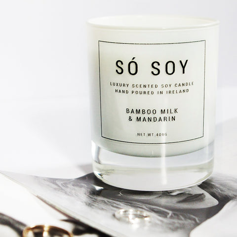 Medium Bamboo Milk & Mandarin - Só Soy Candles