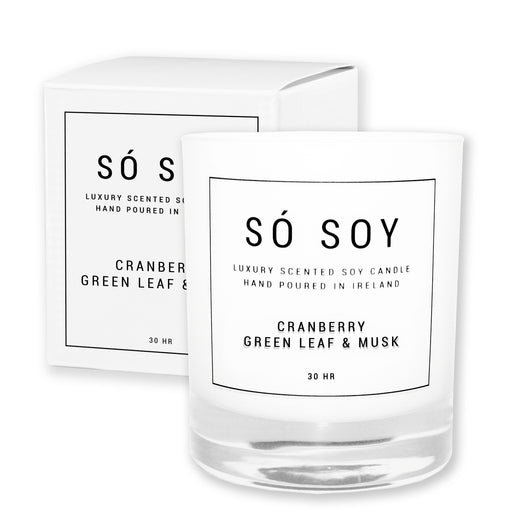 Medium Cranberry, Green Leaf & Musk - Só Soy Candles