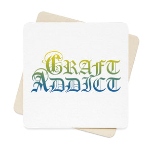 Craft Addict Square Paper Coaster Set - 6pcs