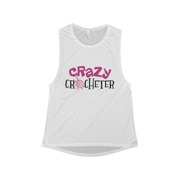 Crazy Crocheter Women's Flowy Scoop Muscle Tank