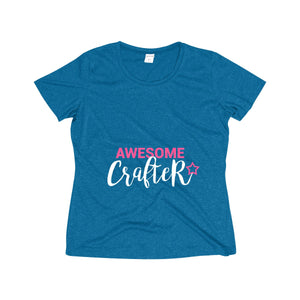 Awesome Crafter Women's Heather Wicking Tee