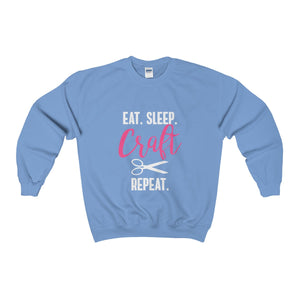 Eat Sleep Craft Repeat Unisex Heavy Blend™ Crewneck Sweatshirt