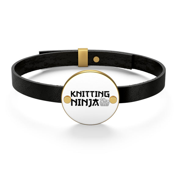 Knitting Ninja Leather Bracelet