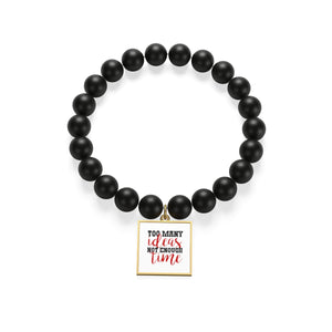 Too Many Ideas Not Enough Time Matte Onyx Bracelet