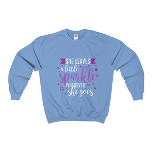 She Leaves A Little Sparkle Everywhere She Goes Unisex Heavy Blend™ Crewneck Sweatshirt
