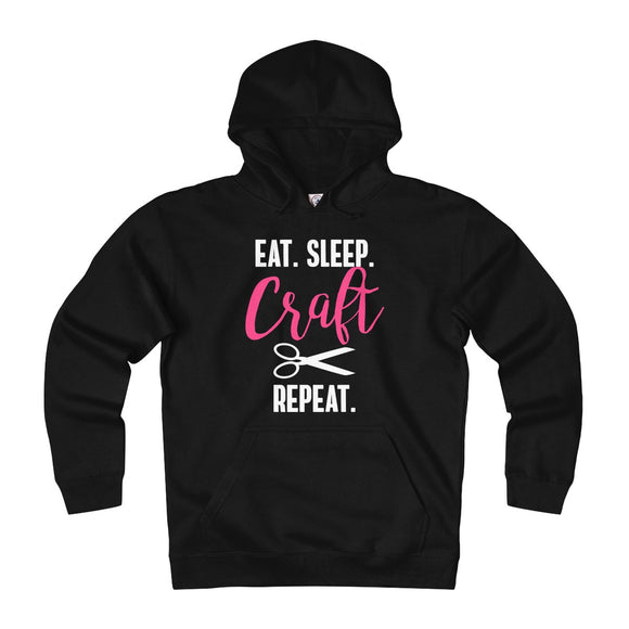 Eat.Sleep.Craft.Repeat. Unisex Heavyweight Fleece Hoodie