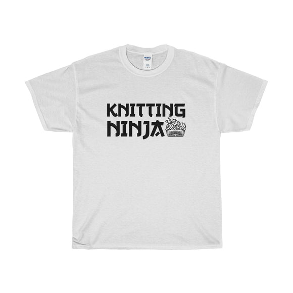 Knitting Ninja Unisex Heavy Cotton Tee