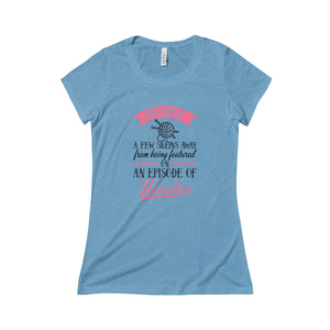 I'm Just a Few Skeins Away...Triblend Short Sleeve Tee