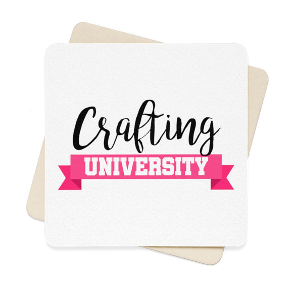 Crafting University Square Paper Coaster Set - 6pcs