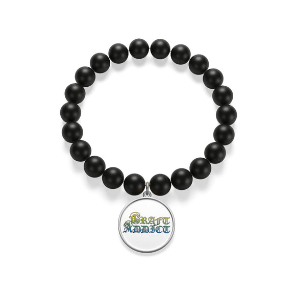 Craft Addict Matte Onyx Bracelet