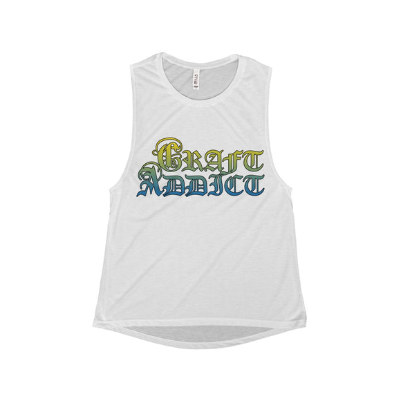 Craft Addict Women's Flowy Scoop Muscle Tank