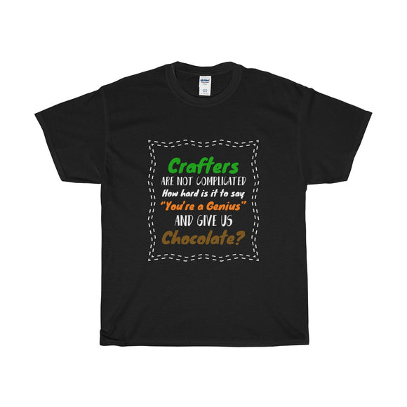 Crafters Are Not Complicated Unisex Heavy Cotton Tee