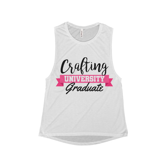 Crafting University Graduate Women's Flowy Scoop Muscle Tank