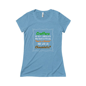 Crafters Are Not Complicated Triblend Short Sleeve Tee