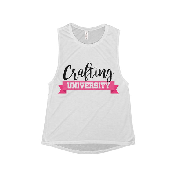 Crafting University Women's Flowy Scoop Muscle Tank