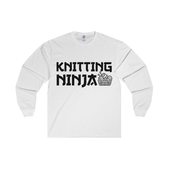 Knitting Ninja Unisex Long Sleeve Tee