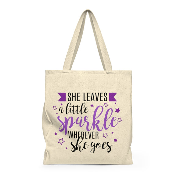 She Leaves A Little Sparkle Wherever She Goes Shoulder Tote Bag - Roomy