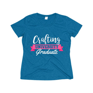 Crafting University Graduate Women's Heather Wicking Tee