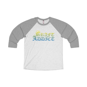 Craft Addict Unisex Tri-Blend 3/4 Raglan Tee