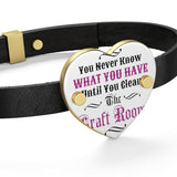 You Never Know What You Have Until You Clean The Craft Room! Leather Bracelet