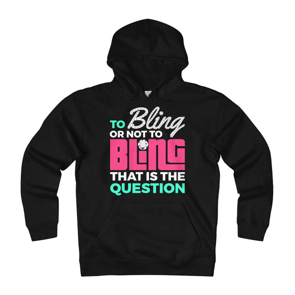 To Bling Or Not To Bling Unisex Heavyweight Fleece Hoodie